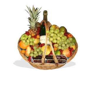 Fruit Basket with Champagne  (BB12)