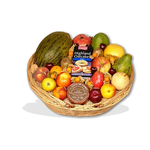 Fruit Basket with Cheese & Oatcakes  (BB13)