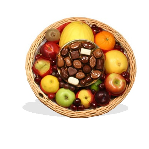 Fruit Basket with Continental Chocolates  (BB1)