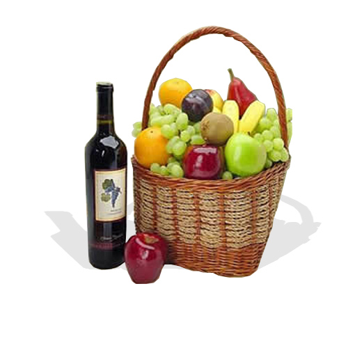 The Fruit Galore Classic Hamper (with red wine)  (FG23)