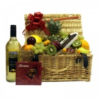 Fruit Hamper With Wine & Chocolates  (FG31)