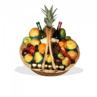 Fruit Basket with Wine & Chocolates  (BB3)