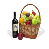 The Fruit Galore Classic Hamper(with red wine)