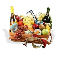 Gourmet Fruit Hamper with Wine