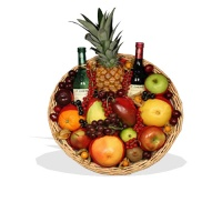 Red & White Wine fruit tray  (FG32)